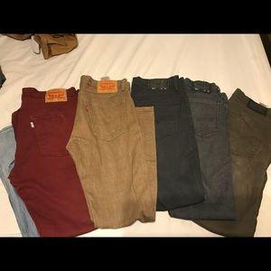 Levi's 6 pair used